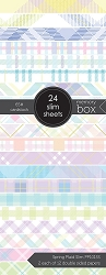 Memory Box - Spring Plaid Slim 3.5x8.5 pack