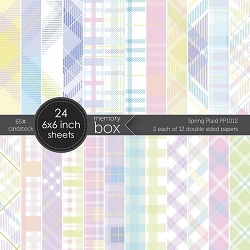 Memory Box - Spring Plaid 6x6 paper pack