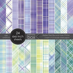 Memory Box - Madras Plaid Blue and Violet 6x6 pack
