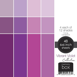 Memory Box - Vibrant Violet Heavyweight Cardstock 6x6 pack