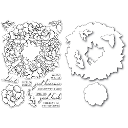 Memory Box - Clear Stamp & Die set - Peony Garden Wreath clear stamp and die set