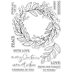 Memory Box - Clear Stamp - Berry Wreath clear stamp set