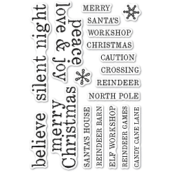 Memory Box - Clear Stamp - Christmas Tiles clear stamp set