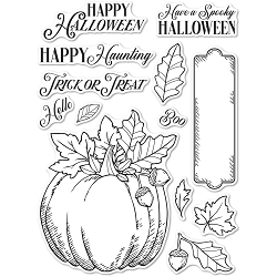 Memory Box - Clear Stamp - Halloween Pumpkin clear stamp set