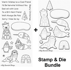 My Favorite Things - 40% off SPECIAL Clear Stamp & Die Set - Polar Pals