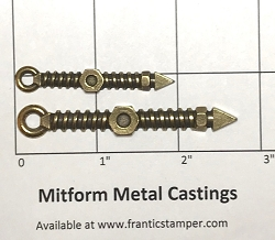 MitForm - Metal Casting - Screw Clock Hands (2 pcs)