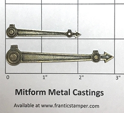 MitForm - Metal Casting - Bolted Clock Hands (2 pcs)