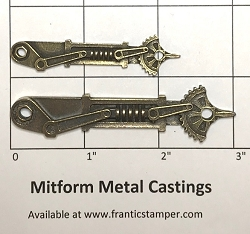 MitForm - Metal Casting - Mechanical Clock Hands (2 pcs)