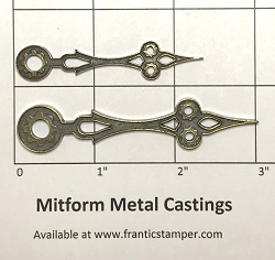 MitForm - Metal Casting - Filigree Clock Hands (2 pcs)