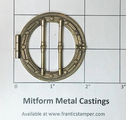 MitForm - Metal Casting - Porthole with Bars (1 pc)