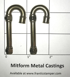 MitForm - Metal Casting - Large Pipe Candy Cane (2 pcs)