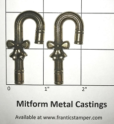 MitForm - Metal Casting - Large Pipe & Bow Candy Cane (2 pcs)