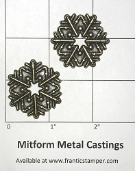 MitForm - Metal Casting - Large Pipeworks Snowflakes (2 pcs)
