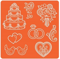 Mod Podge - Mod Melts Mold - Wedding