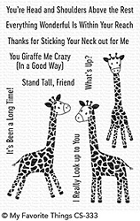 My Favorite Things - Clear Stamp - Playful Giraffes