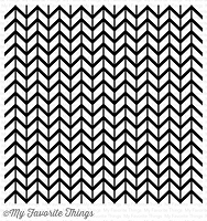 My Favorite Things - Cling Rubber Stamp - BG Lined Chevron Background