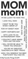 My Favorite Things - Clear Stamp - All About Mom