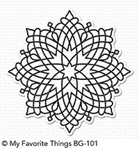 My Favorite Things - Cling Rubber Stamp - BG Captivating Mandala Background