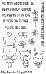 My Favorite Things - Clear Stamp - Tutu Trio