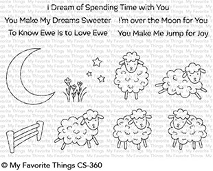 My Favorite Things - Clear Stamp - Over the Moon for Ewe