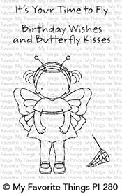 My Favorite Things - Clear Stamp - Pure Innocence Butterfly Kisses