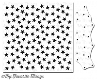My Favorite Things - Cling Rubber Stamp - Starry Nights Background Builder