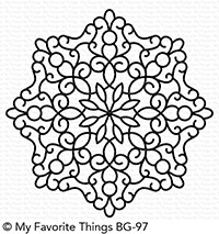 My Favorite Things - Cling Rubber Stamp - BG Magical Mandala Background