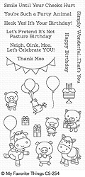 My Favorite Things - Clear Stamp - Party Animals