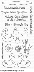 My Favorite Things - Clear Stamp - Splendid Swans
