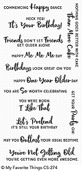 My Favorite Things - Clear Stamp - Anything-but-Basic Birthday Wishes