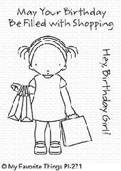My Favorite Things - Clear Stamp - Pure Innocense Birthday Girl