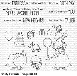 My Favorite Things - Clear Stamp - BB Birth-Yay