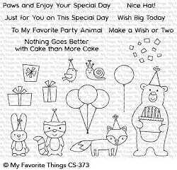 My Favorite Things - Clear Stamp - Birthday Bear & Friends