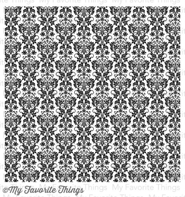 my favorite things cling rubber stamp damask background