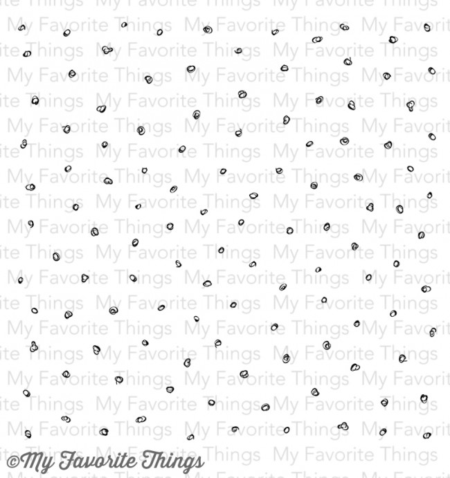 my favorite things cling rubber stamp circle scribbles background