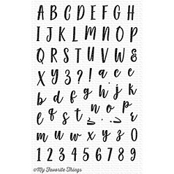 My Favorite Things - Clear Stamp - Mini Well-Connected Alphabet & Numbers