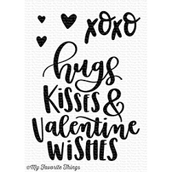 My Favorite Things - Clear Stamp - Valentine Wishes