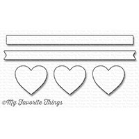My Favorite Things - Die-namics - Hearts in a Row - Horizontal