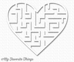 My Favorite Things - Heart Shape Maze - White