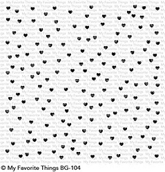 My Favorite Things - Cling Rubber Stamps - BG Scattered Hearts Background