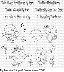 My Favorite Things - Clear Stamp - SY Tweet Friends