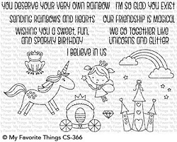My Favorite Things - Clear Stamp - Rainbows & Unicorns