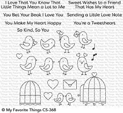 My Favorite Things - Clear Stamp - Tweethearts