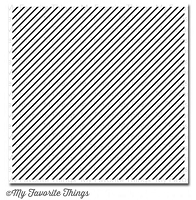 My Favorite Things - Cling Rubber Stamp - Diagonal Stripes Background