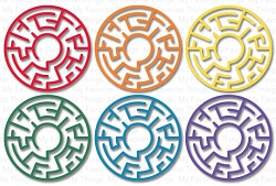 My Favorite Things - Maze Shapes - Rainbow