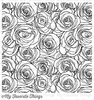 My Favorite Things - Cling Rubber Stamp - Roses All Over Background