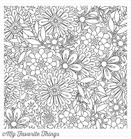My Favorite Things - Cling Rubber Stamp - BG Bundles of Blossoms Background