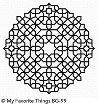 My Favorite Things - Cling Rubber Stamp - BG Moroccan Mosaic Background