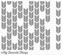 My Favorite Things - Cling Rubber Stamp - Arrow Ends Background Builder