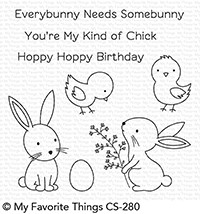 My Favorite Things - Clear Stamp - Hoppy Friends